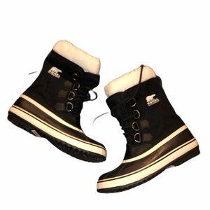 Sorel Waterproof Sherpa Carnival Lace Boots 9.5